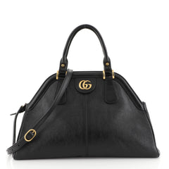 Gucci RE(BELLE) Top Handle Bag Leather Medium Black 4536011