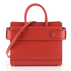 Givenchy Horizon Satchel Leather Small Red 453692