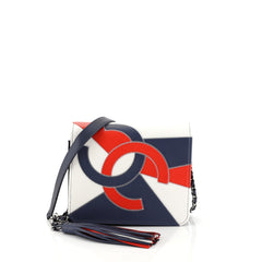 Chanel CC Tassel Full Flap Bag Patchwork Leather Small Multi color 453696
