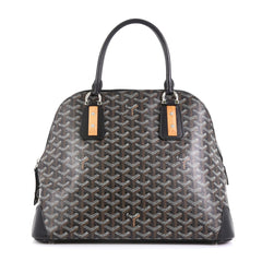 Goyard Sac Vendome Handbag Coated Canvas PM Black 4537311
