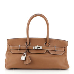 Hermes Birkin JPG Handbag Brown Clemence with Palladium Hardware 42 Brown 4537533