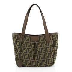 Fendi Shopping Tote Zucca Canvas Medium Brown 4537719