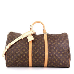 Louis Vuitton Keepall Bandouliere Bag Monogram Canvas 55 Brown 453772