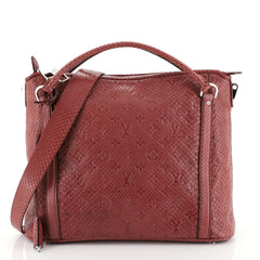 Louis Vuitton Antheia Ixia Handbag Python PM Red 453952