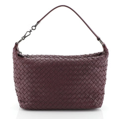Bottega Veneta Zip Hobo Intrecciato Nappa Small Purple 4539616