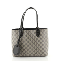 Gucci Reversible Tote GG Print Leather Small Brown 453965