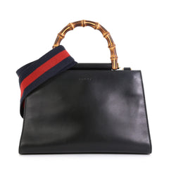 Gucci Nymphaea Top Handle Bag Leather Small