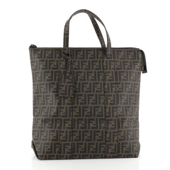 Fendi Shopping Tote Zucca Coated Canvas Large Brown 454091