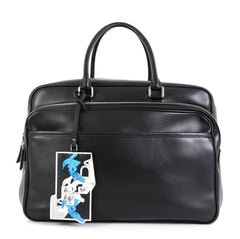 Prada James Jean Duffle Bag Leather Large Black 4542732