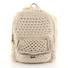 Chanel Cayo Coco Backpack Crochet Neutral 454862