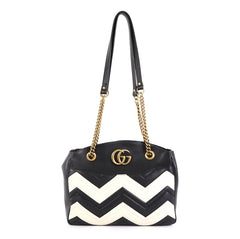 Gucci GG Marmont Chain Tote Matelasse Leather Medium White 45516129