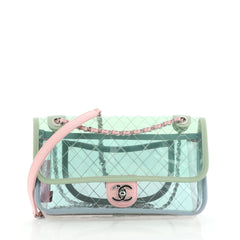 Chanel Coco Splash Flap Bag Quilted PVC With Lambskin Medium