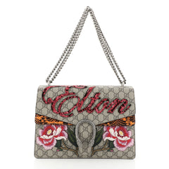 Gucci Dionysus Bag Embroidered GG Coated Canvas with Python Medium