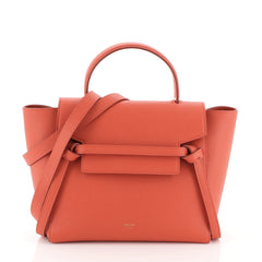 Celine Belt Bag Textured Leather Micro Orange 4560018