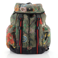 Gucci Techpack Backpack Printed Canvas Green 456002
