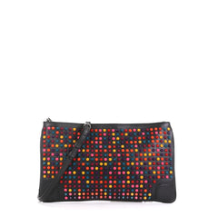 Christian Louboutin Loubiposh Clutch Spiked Leather Black 4560054