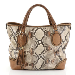 Gucci Marrakech Tote Python Medium Brown 456271