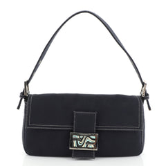 Fendi Baguette Canvas Blue 4563701