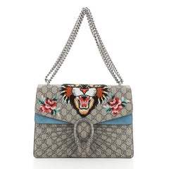Gucci Dionysus Bag Embroidered GG Coated Canvas Medium Brown 456851