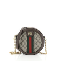Ophidia Round Shoulder Bag GG Coated Canvas Mini