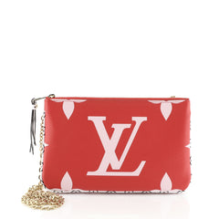 Louis Vuitton Pochette Double Zip Limited Edition Colored Monogram Giant  Multicolor 457023