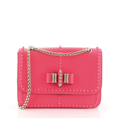 Christian Louboutin Sweet Charity Crossbody Bag Leather Medium Pink 457061