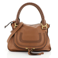 Chloe Marcie Satchel Leather Medium Brown 457084
