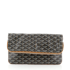 Goyard Saint Marie Clutch Coated Canvas Brown 457581