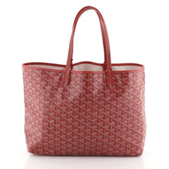 Goyard St. Louis Tote Coated Canvas PM Red 4576915
