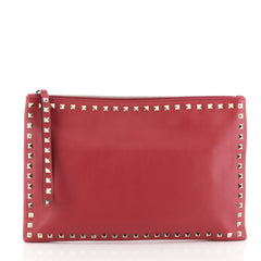 Valentino Rockstud Pouch Leather Large Pink 4576967