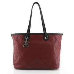 Chanel Fever Tote Quilted Caviar Small