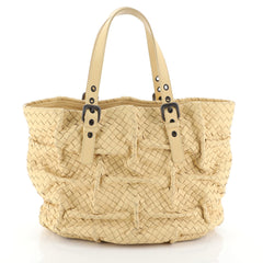Bottega Veneta Belted Tote Pleated Intrecciato Nappa