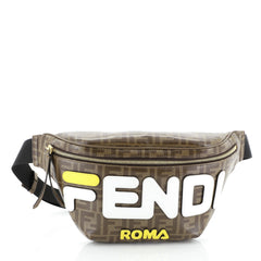 Edit website SEO Fendi Mania Waist Bag Zucca Coated Canvas Brown 4577601