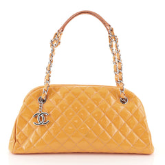 Just Mademoiselle Bag Quilted Patent Medium