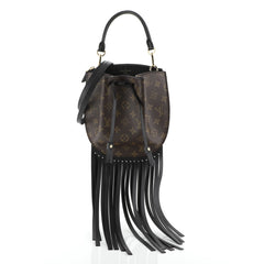 Louis Vuitton Fringed Noe Bag Monogram Canvas with Leather