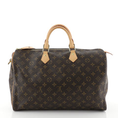 Louis Vuitton Speedy Handbag Monogram Canvas 40 Brown 458201