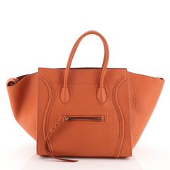 Celine Phantom Bag Grainy Leather Medium Orange 458261