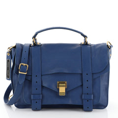 Proenza Schouler PS1 Satchel Leather Medium Blue 458661