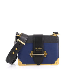 Prada Cahier Crossbody Bag City Calf and Saffiano Leather Small