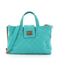 Chanel Boy Satchel Embossed Leather Large Green 458952