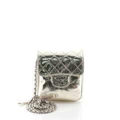 Chanel Wallet on Chain Flap Bag Quilted Metallic Calfskin Mini Metallic 458955
