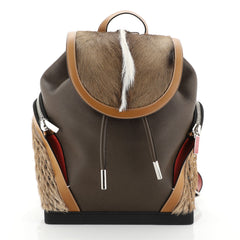 Explorafunk Backpack Spiked Leather and Fur