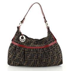 Fendi Chef Hobo Zucca Canvas Large Brown 459171