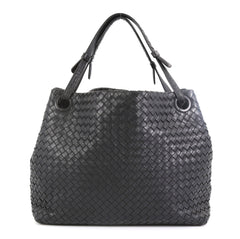 Bottega Veneta Bella Tote Intrecciato Nappa Medium Black 45922115