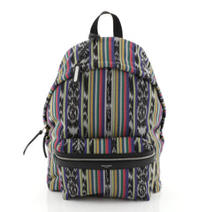 City Backpack Striped Canvas Medium