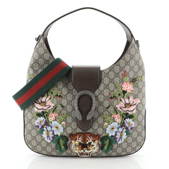 Gucci Dionysus Hobo Embroidered GG Coated Canvas Medium