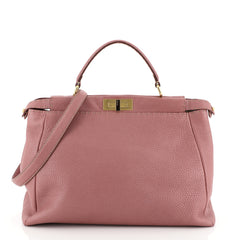 Fendi Peekaboo Bag Soft Leather Large Pink 4592215