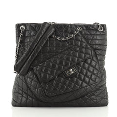 Chanel Karl's Fantasy Cabas Tote Quilted Leather