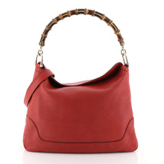 Gucci Diana Bamboo Shoulder Bag Leather Medium Red 45922189