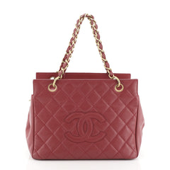 Chanel Petite Timeless Tote Quilted Caviar Pink 45922280